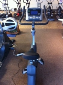 Pre-Owned Upright Bike Life Fitness C1-go LifeCycle